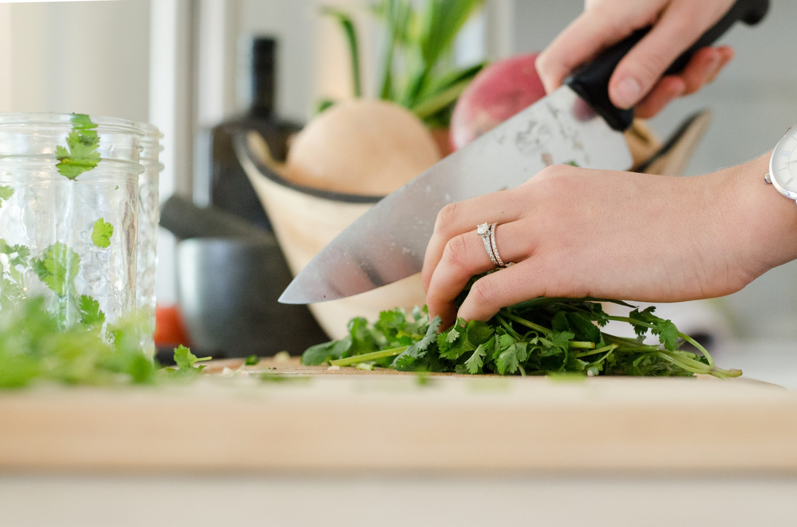 Kitchen preparation tools to make preparing vegetable, salads and meals quicker and easier.